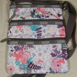 LeSportSac Crossbody Zipper Floral Bag Adjustable